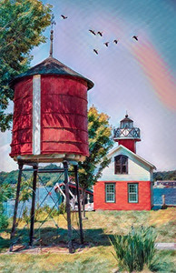 Kalamazoo Replica Lighthouse - Posterized