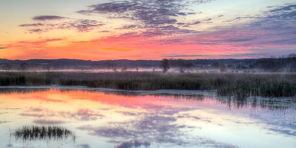 Sunrise Sky over Arcadia Lake