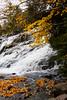 Bond Falls with fall foliage color in the Upper Peninsula, Michigan, USA.