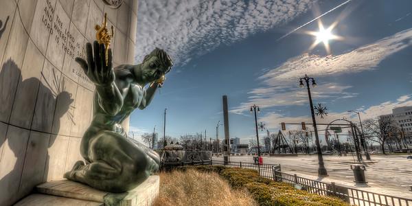 The Spirit of Detroit (panorama)