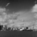 Detroit, Michigan Skyline (in Black and White)