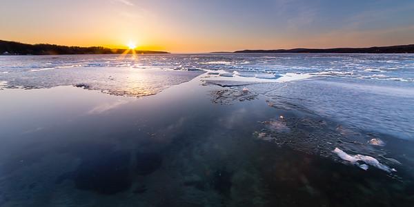Crystal Lake Sunset in Spring