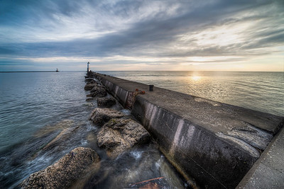 Along the North Breakwater