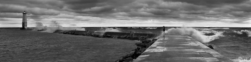 Frankfort Whitecaps (in Black and White)