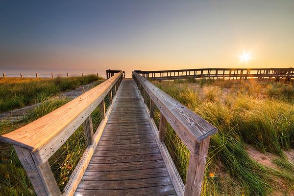 Sunrise on Glen Haven Shoreline