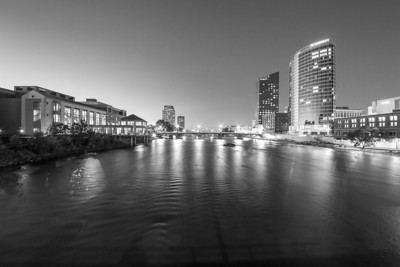 Grand River in Black and White