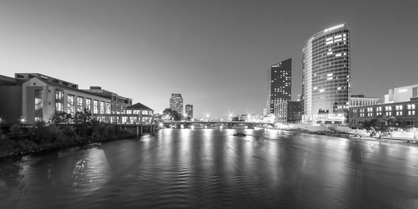 Grand Rapids in Black and White