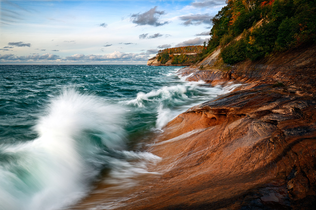 Breaking Fall - Gerlach Point (Pictured Rocks National Lakeshore)