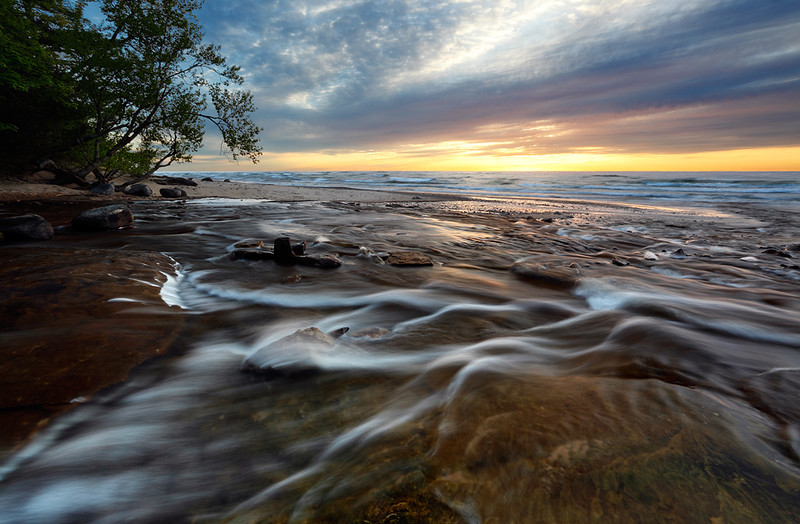 Rushing Sunset - Hurricane River (Pictured Rocks National Lakeshore - Upper Michigan)