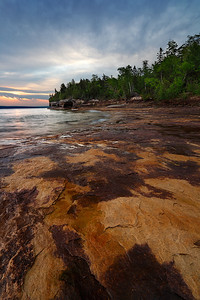 Stained Shores II - Five Mile Point (Hiawatha National Forest - Upper Michigan)