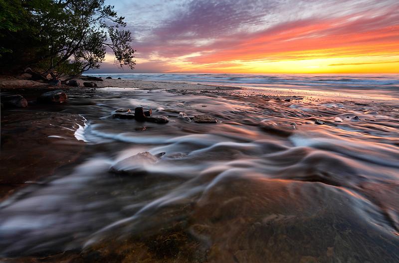 Rushing Twilight - Hurricane River (Pictured Rocks National Lakeshore - Upper Michigan)
