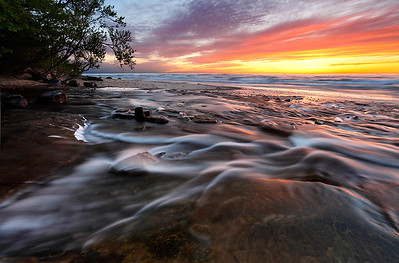 Rushing Twilight - Hurricane River (Pictured Rocks National Lakeshore - Upper Michigan)