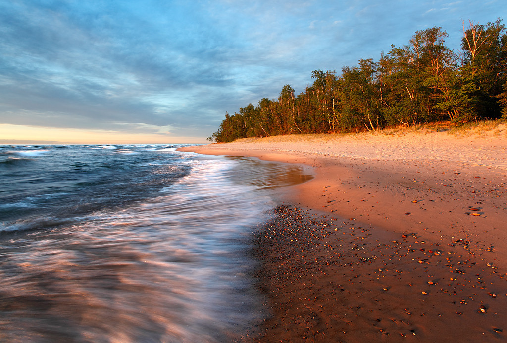 Sunset Suffused - Hurricane River Beach (Pictured Rocks National Lakeshore - Upper Mighigan)