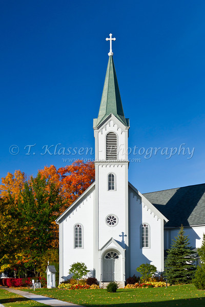 The Holy Childhood of Jesus Catholic Church in Harbor Springs, Michigan, USA.