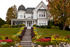 A large home of Colonial architecture in Harbor Springs, Michigan, USA.