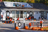 A home decorated for Halloween in Harbor Springs, Michigan, USA.
