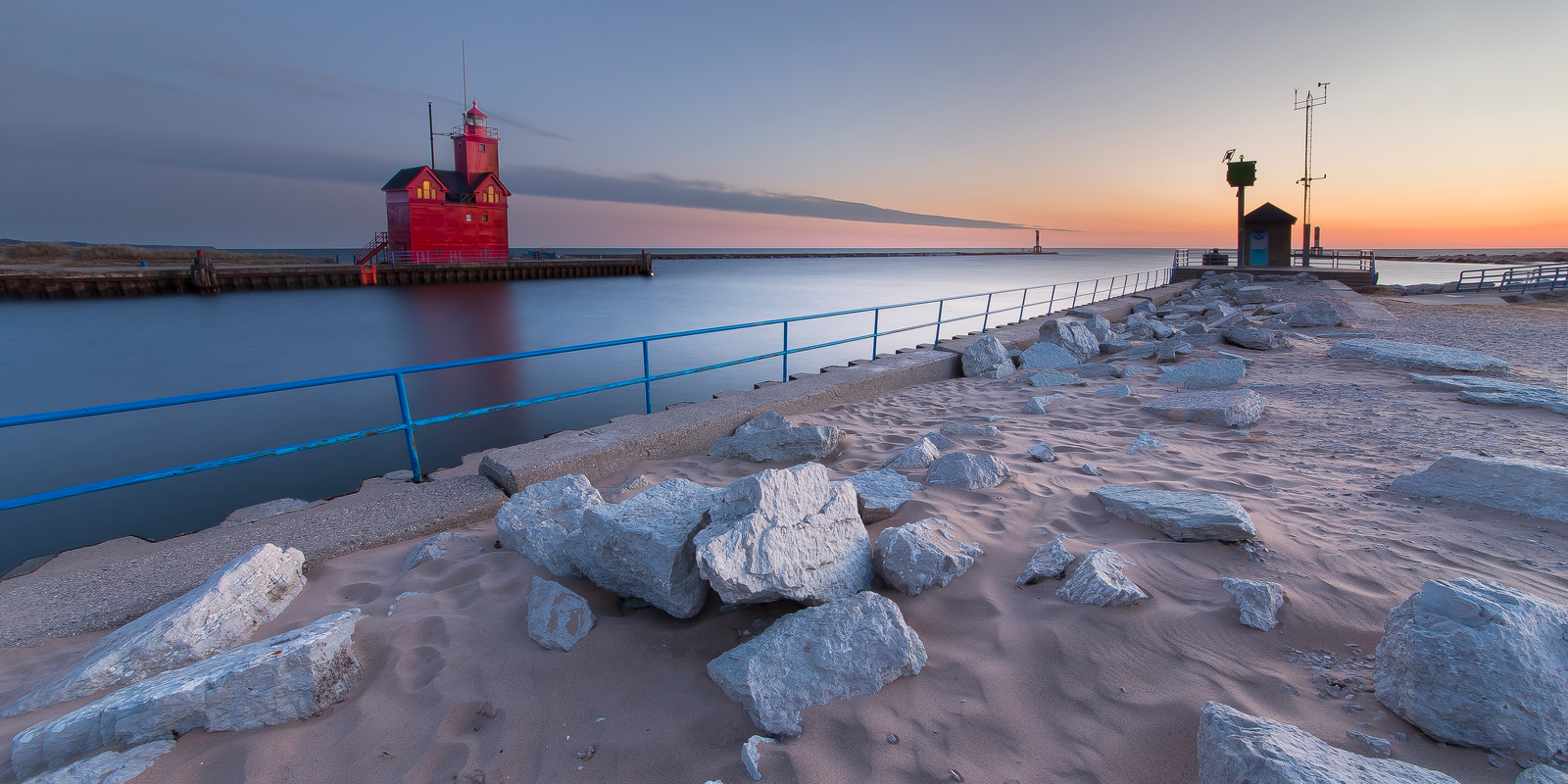 Holland Lighthouse and Channel