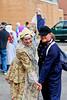 Dutch people in ethnic dress in Holland, Michigan, USA.