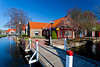 Architecture and shops of the Dutch Village tourist attraction in Holland, MIchigan, USA.