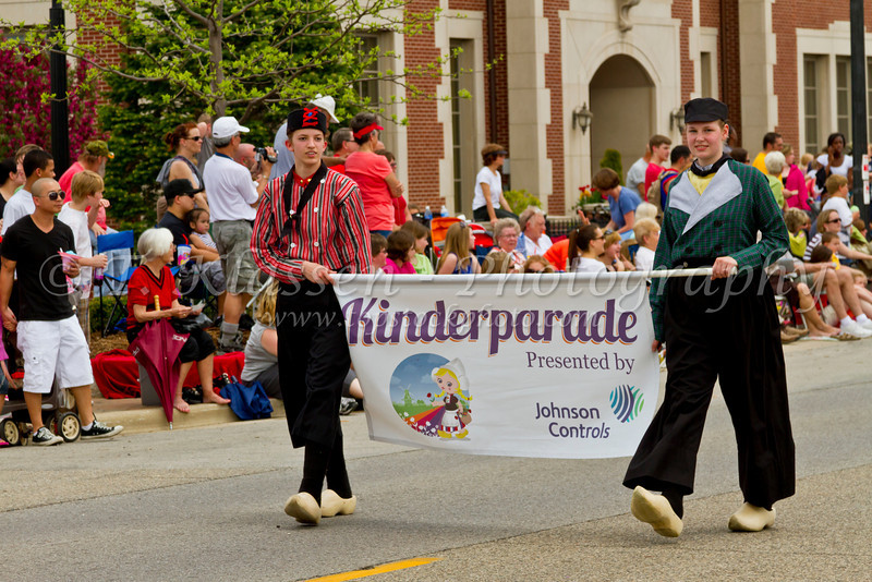 The Tulip Time Kinderparade on the streets of downtown Holland, Michigan, USA.