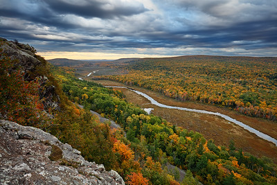 Fall Blues -  Lake the Clouds (Porcupine Mountains State Park - Upper Michigan)