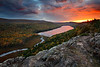 Autumn Fire - Lake of the Clouds (Porcupine Mountains State Park - Upper Michigan)