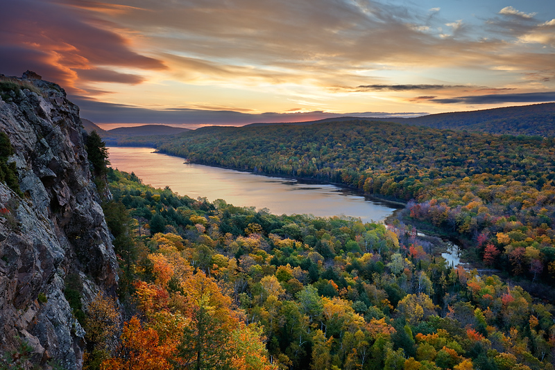 Fall Inception II - Lake of the Clouds (Porcupine Mountains State Park - Upper Michigan)