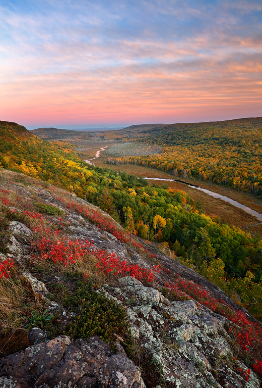 Evanesce Twilight - Lake of the Clouds (Porcupine Mountains State Park - Upper Michigan)