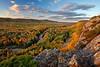 Autumn Escarpment - Big Carp River Valley (Porcupine Mountains State Park - Upper Michigan)