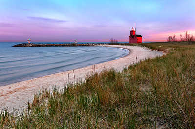 Big Red Light - Holland Harbor South Pierhead Lighthouse (Holland, MI)