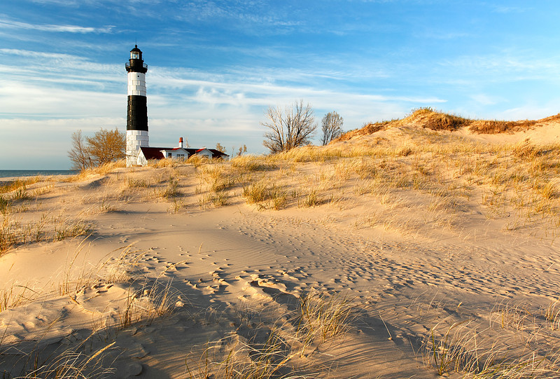 Wind Swept Light - Big Sable Point Lighthouse (Ludington State Park - Ludington, MI)