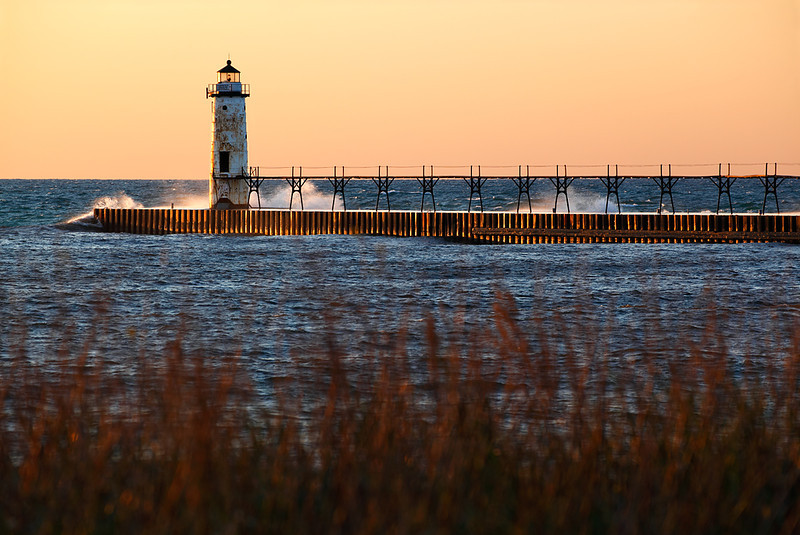 Fading Light - Manistee North Pierhead Lighthouse (Manistee, MI)