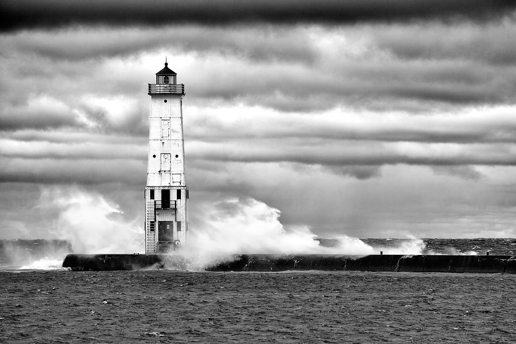 Whisked Light - Frankfort North Breakwater Lighthouse (Frankfort, MI)