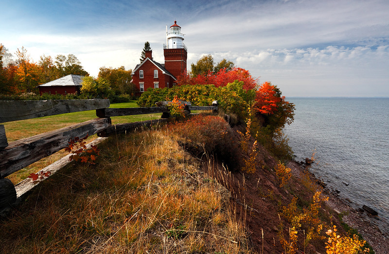 Autumn Light - Big Bay Point Lighthouse (Big Bay, Michigan)
