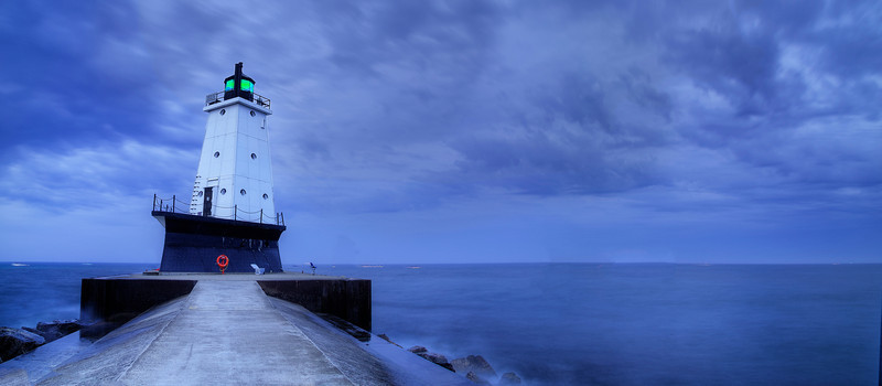 Cloudy Morning at Ludington Light