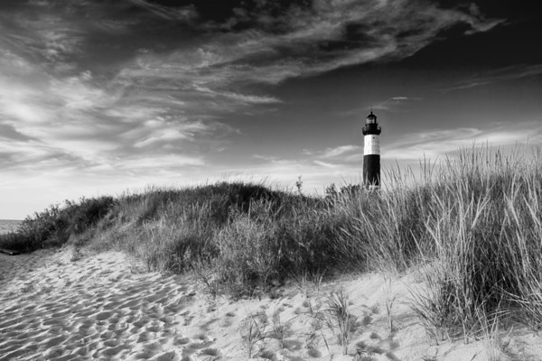Big Sable Dunes in Black and White