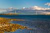 The Mackinac Bridge over the Straits of Mackinac joining the Upper and Lower Penninsula of Michigan, USA.