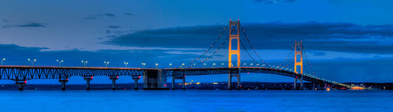 Mackinac Bridge at Dusk (panorama)
