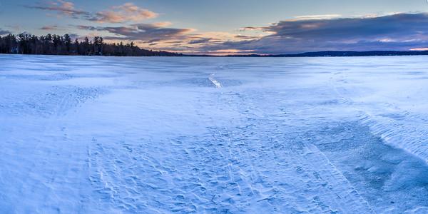 Winter on Bear Lake Panorama