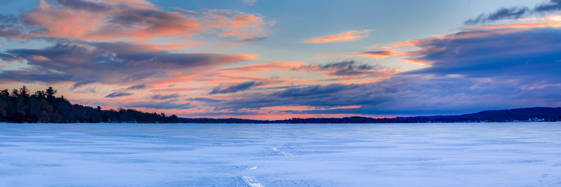 Sunrise in Winter on Bear Lake