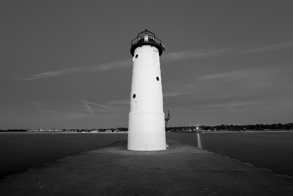 Manistee Light Black and White