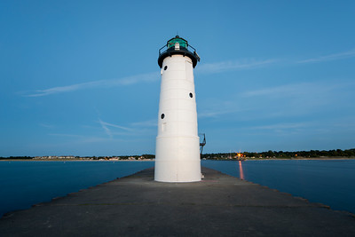Manistee Lighthouse from Tip of Pier