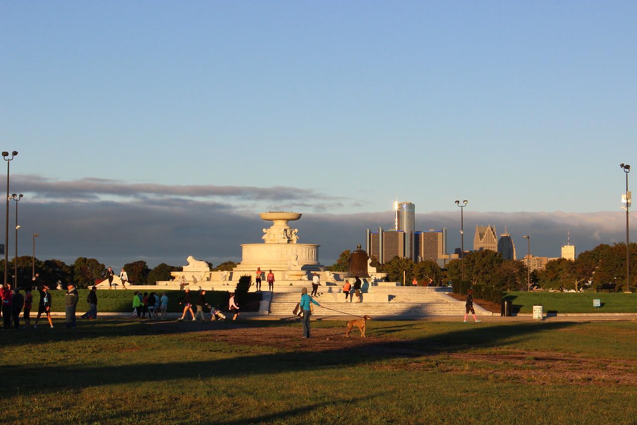 James Scott Memorial Fountain and City View