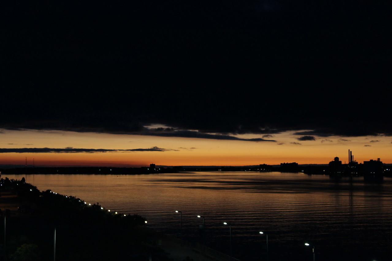 Detroit River at Sundown