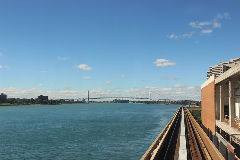 People Mover Track along the Detroit River