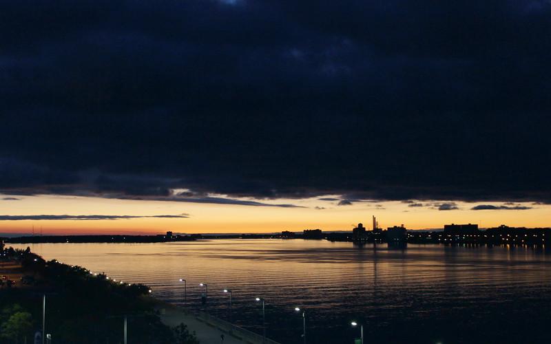 Detroit River at Sunset