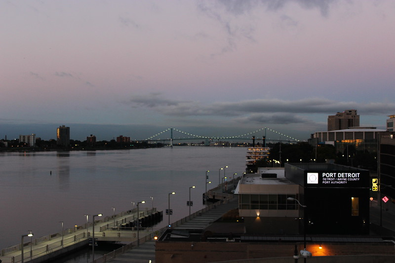 Ambassador Bridge at Twilight