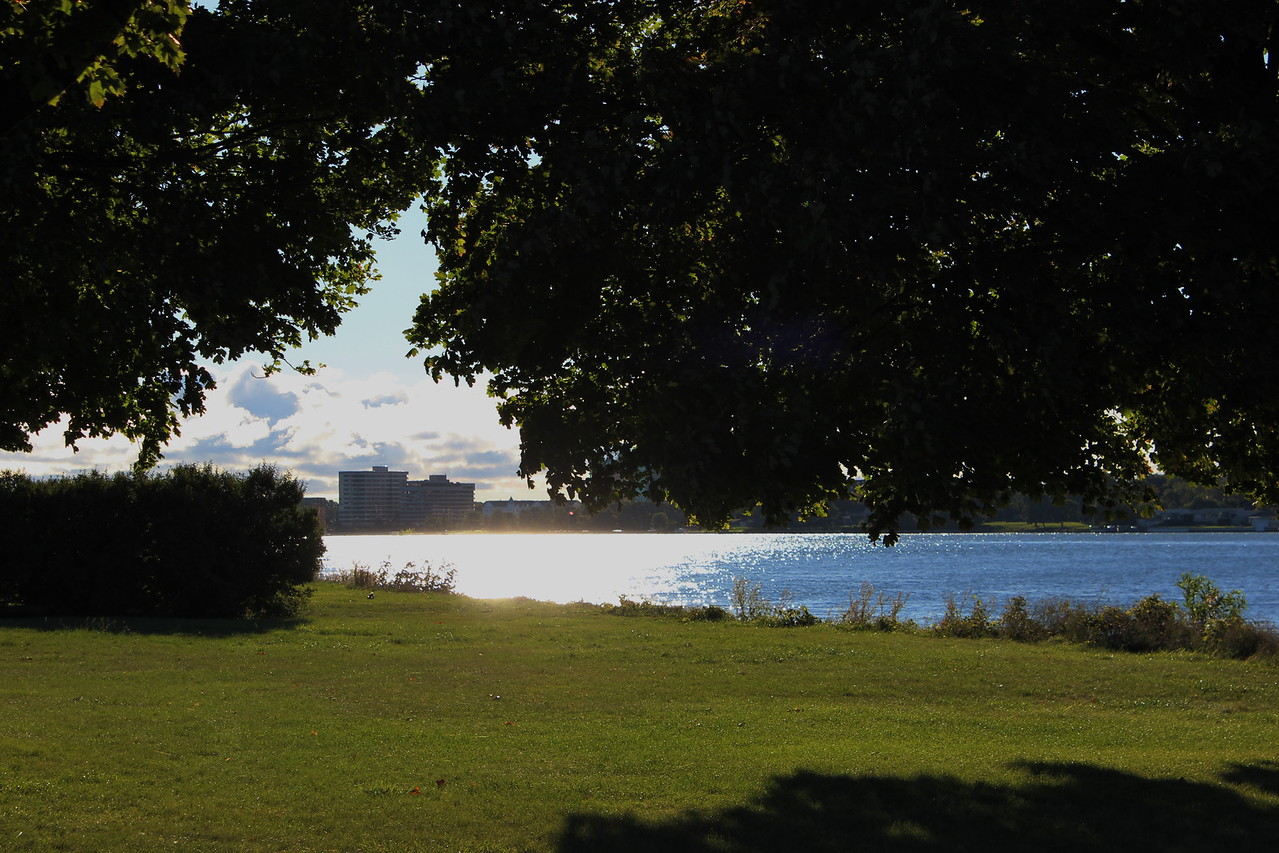 View from Belle Isle Park in the Detroit River