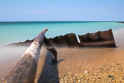 Point Betsie waters long exposure.
