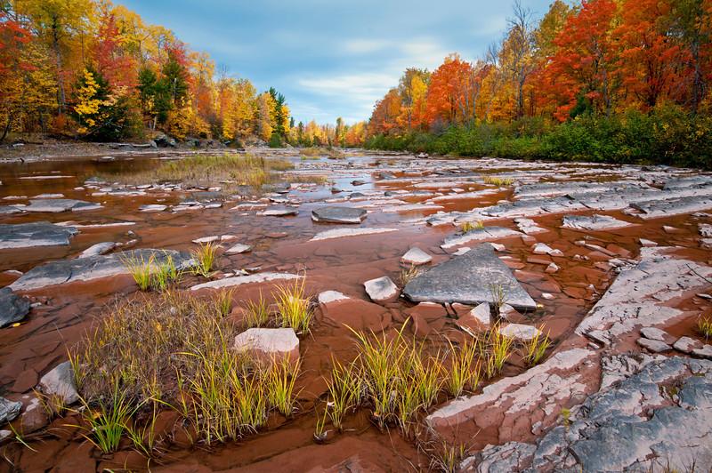 MI 102                                 Autumn on the Big Iron River just downstream from Bonanza Falls in Michigan's Upper Peninsula.
